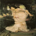 John William Waterhouse (6 April 1849  10 February 1917)  The Lady of Shalott  Oil on canvas, 1894  142 x 86 cm  City Art Gallery, Leeds, UK